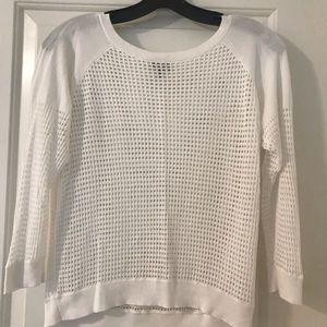 Express waffle knit white sweater